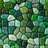 Dark emerald green colored abstract marble irregular plastic stony mosaic pattern texture seamless background with black gro Stock Images