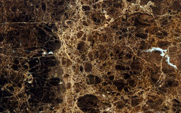 Dark emperador marble surface Stock Photos