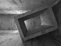 Dark empty concrete basement room interior. Urban architecture b Stock Photo