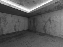 Dark empty concrete basement room interior. Urban architecture b Royalty Free Stock Photos