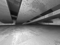 Dark empty concrete basement room interior. Urban architecture b Royalty Free Stock Photography