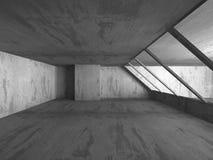 Dark empty concrete basement room interior. Urban architecture b Royalty Free Stock Images