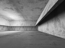 Dark empty concrete basement room interior. Urban architecture b Royalty Free Stock Image