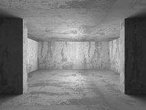 Dark Empty Concrete Room. Architecture Background Royalty Free Stock Photography