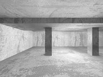 Dark empty concrete room interior. Abstract architecture backgro. Und. 3d render illustration Stock Images