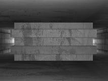 Dark empty concrete room interior background. 3d render illustration Royalty Free Stock Photography
