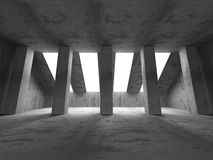 Dark empty concrete room interior background. 3d render illustration Stock Photos