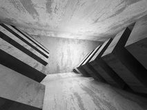 Dark empty concrete room interior background. 3d render illustration Stock Image