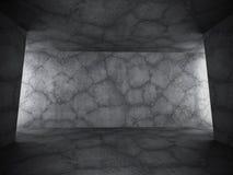 Dark empty concrete room interior. Grunge background. 3d render illustration Royalty Free Stock Photo