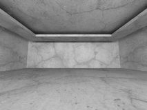 Dark empty concrete walls room interior background. Abstract arc. Hitecture. 3d render illusrtration Royalty Free Stock Image