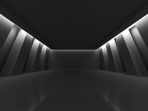 Dark Empty Room Columns Design Background. 3d Render Illustration Stock Photo