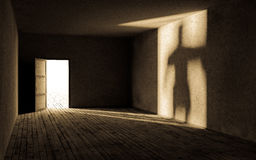 Dark empty room. Royalty Free Stock Image