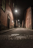 Dark empty street Royalty Free Stock Image