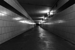 Dark empty tunnel Stock Photography