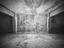 Dark empty urban concrete room urban interior. 3d render illustration Stock Images