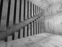 Dark empty urban concrete room urban interior. 3d render illustration Royalty Free Stock Photography