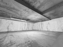 Dark empty urban concrete room urban interior. 3d render illustration Royalty Free Stock Photos