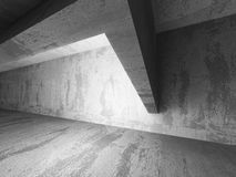 Dark empty urban concrete room urban interior. 3d render illustration Royalty Free Stock Images