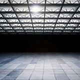 Dark empty warehouse Royalty Free Stock Image