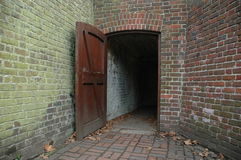 Dark Entrance. To the Ice House at Kew Gardens in London, UK Stock Images