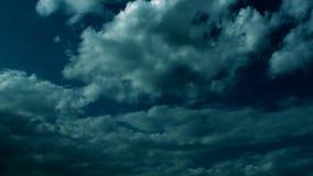 Dark Epic Clouds stock footage
