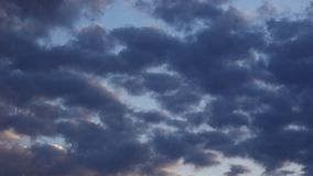 Dark epic clouds time lapse. Video stock footage