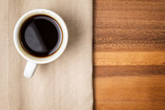 Dark espresso in a cup Royalty Free Stock Photography