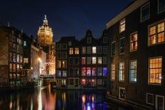 Dark evening in Amsterdam Royalty Free Stock Photos