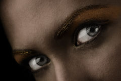 Dark eyes close up Royalty Free Stock Images