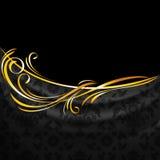 Dark fabric ornamental drapes on black background Stock Image