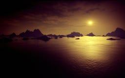 Dark fantasy landscape Royalty Free Stock Photo
