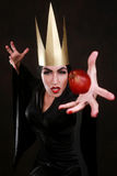 Dark Fantasy Villain Character Wearing Golden Crown Stock Photo