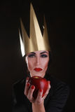 Dark Fantasy Villain Character Wearing Golden Crown Stock Images