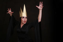 Dark Fantasy Villain Character Wearing Golden Crown Royalty Free Stock Photos