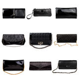 Dark female purses-4 Stock Photos