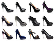 Dark female shoes-5 Royalty Free Stock Image