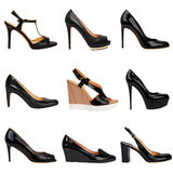 Dark female shoes-7 Stock Images