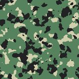 Dark flecktarn green seamless camo. Pattern Royalty Free Stock Photography