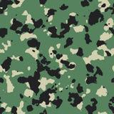 Dark flecktarn green seamless camo Royalty Free Stock Photography