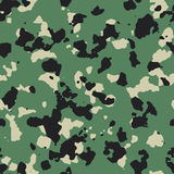 Dark flecktarn green seamless  camo Stock Photos