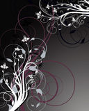 Dark floral abstraction Royalty Free Stock Photos