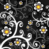 Dark floral background Royalty Free Stock Photo