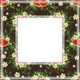 Dark floral border. Abstract romantic pattern on a dark background vector illustration