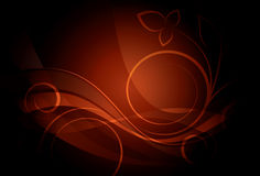Dark Floral Design Royalty Free Stock Images