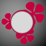 Dark floral frames flat Royalty Free Stock Images
