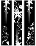Dark floral pattern Stock Images