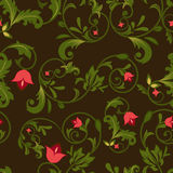 Dark floral seamless background Royalty Free Stock Photography