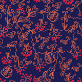 Dark floral seamless pattern Royalty Free Stock Photo