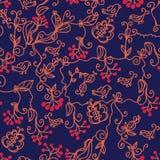 Dark floral seamless pattern Royalty Free Stock Photo