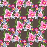 Dark floral seamless pattern Royalty Free Stock Image